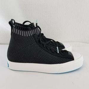 NATIVE Jefferson Black Hi-Top Sneaker Sz 5 Men